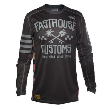 Maillot cross enfant Fasthouse 2020 Hawk - Noir