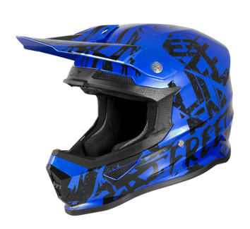 Casque cross enfant Freegun by Shot 2020 XP-4 Maniac - Bleu Chrome Noir