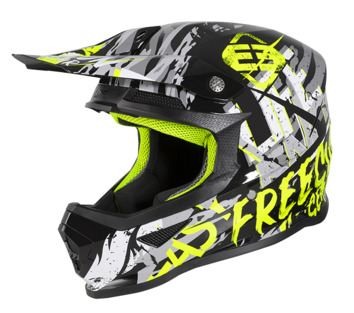 Casque cross enfant Freegun by Shot 2020 XP-4 Maniac - Noir Jaune Fluo Gris