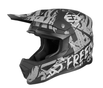 Casque cross enfant Freegun by Shot 2020 XP-4 Maniac - Noir Gris Mat