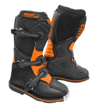 Bottes cross enfant Shot 2020 K10 2.0 - Noir Orange Fluo