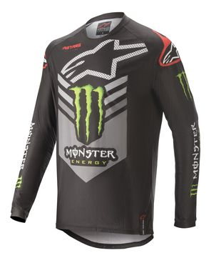 Maillot cross Alpinestars 2020 édition Monster Ammo - Noir Vert