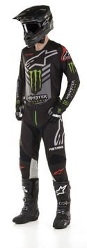 Tenue cross 2020 Alpinestars édition Monster Ammo Gear - Noir Vert