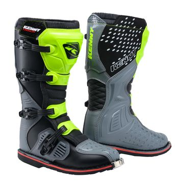 Bottes cross Kenny 2020 Track - Gris Jaune Fluo