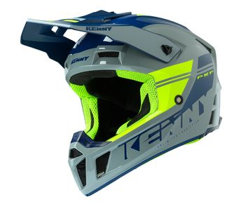 Casque cross Kenny 2020 Performance Solid - Gris Jaune Fluo