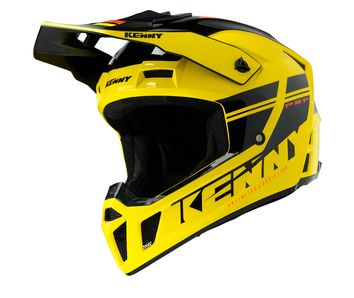 Casque cross Kenny 2020 Performance Solid - Jaune Noir