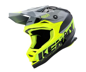 Casque cross enfant Kenny Track Focus - Gris Jaune Fluo