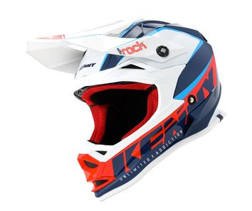 Casque cross enfant Kenny Track Focus - Bleu Blanc