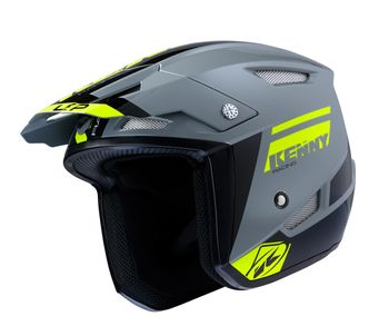 Casque Kenny Trial Up - Gris Jaune Fluo