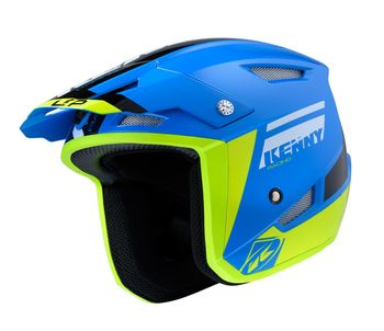 Casque Kenny Trial Up - Bleu Jaune Fluo
