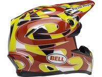 Casque cross Bell Moto-9 Mips McGrath Replica - Rouge Jaune Chrome