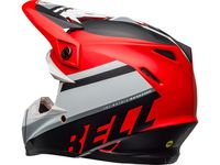 Casque cross Bell Moto-9 Mips Prophecy - Blanc Rouge Noir