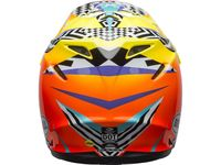Casque cross Bell Moto-9 Mips Tagger Breakout - Orange Jaune