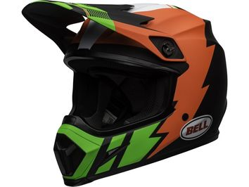 Casque cross Bell MX-9 Mips Strike - Rouge Vert Noir