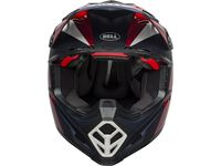 Casque cross Bell Moto-9 Flex Division - Blanc Bleu Rouge