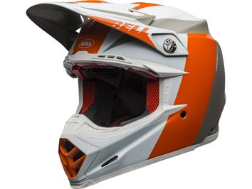 Casque cross Bell Moto-9 Flex Division - Blanc Orange Sable