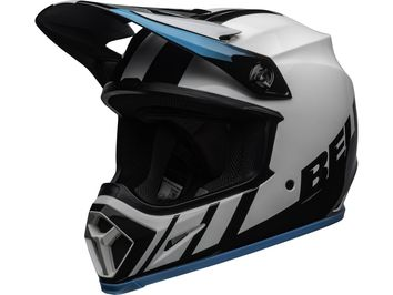 Casque cross Bell MX-9 Mips Dash - Blanc Bleu