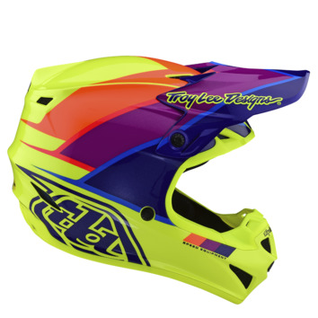 Casque cross enfant Troy Lee Designs 2020 SE4 Polyacrylite Beta - Jaune Violet