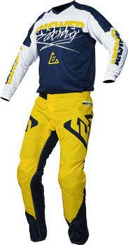 Tenue cross enfant 2020 Answer Syncron Pro - Jaune Bleu Blanc
