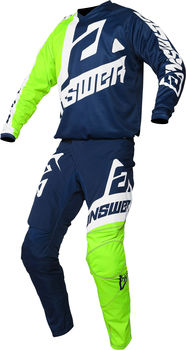 Tenue cross enfant 2020 Answer Syncron Voyd - Bleu Lime Blanc