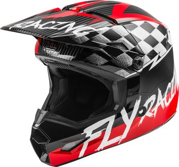 Casque cross enfant Fly Racing 2020 Kinetic Sketch - Rouge Noir Gris