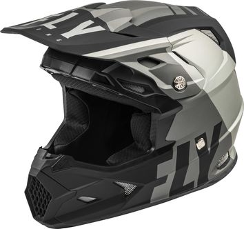 Casque cross enfant Fly Racing 2020 Toxin Transfer MIPS - Gris Noir Mat