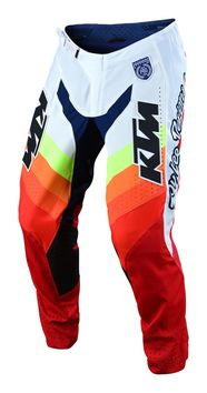 Pantalon cross Troy Lee Designs 2020 SE Pro Mirage KTM - Blanc Rouge