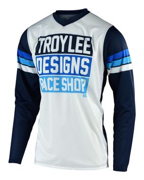 Maillot cross Troy Lee Designs 2020 GP Air Carlsbad - Blanc Bleu
