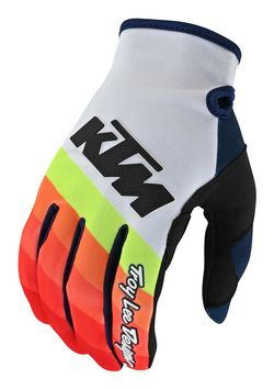 Gants cross Troy Lee Designs SE Pro Mirage KTM - Blanc Rouge