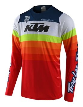 Maillot cross Troy Lee Designs 2020 SE Pro Mirage KTM - Blanc Rouge