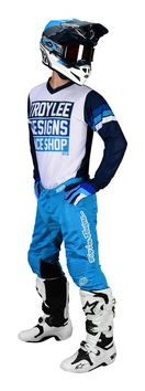 Tenue cross Troy Lee Designs 2020 GP Air Carlsbad - Blanc Bleu