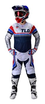 Tenue cross Troy Lee Designs 2020 SE Air Seca - Blanc Bleu