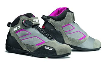 Baskets moto route Sidi Meta - Gris Rose