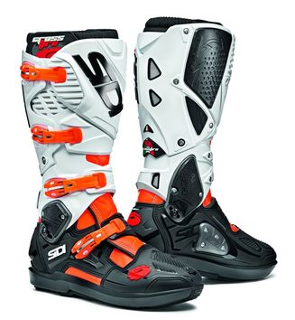 Bottes cross Sidi 2020 Crossfire 3 SRS - Orange Fluo Noir Blanc
