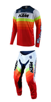 Tenue cross Troy Lee Designs 2020 SE Pro KTM Mirage - Blanc Rouge