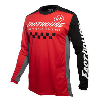 Maillot cross Fasthouse 2020 Rally - Rouge Noir