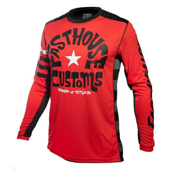 Maillot cross Fasthouse 2020 Funkhouse - Rouge