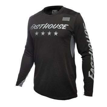 Maillot cross Fasthouse 2020 Raven Element - Noir Gris