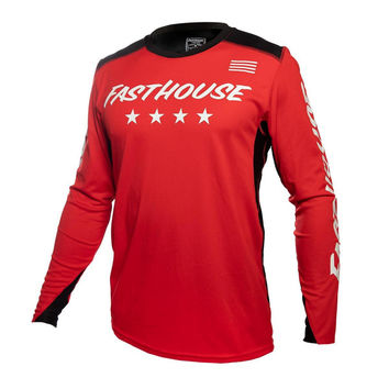 Maillot cross Fasthouse 2020 Raven Element - Rouge Blanc