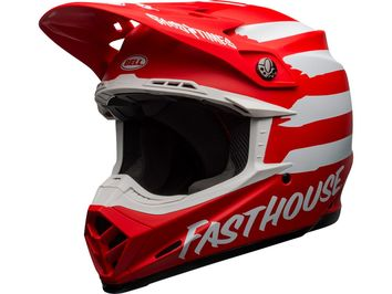 Casque cross Bell Moto-9 Mips Fasthouse Signia - Route Blanc Mat