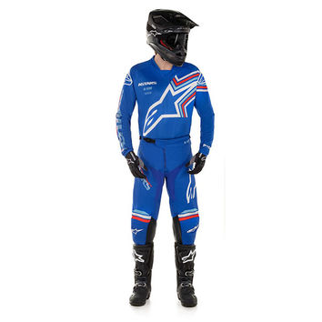 Tenue cross 2020 Alpinestars Racer Braap - Bleu Blanc