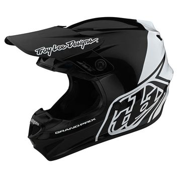 Casque cross Troy Lee Designs 2020 GP Block - Noir Blanc