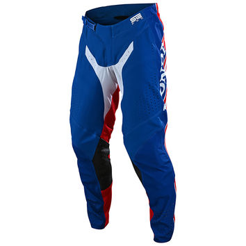 Pantalon cross Troy Lee Designs Spring 2020 SE Pro Air Boldor Honda - Bleu Rouge