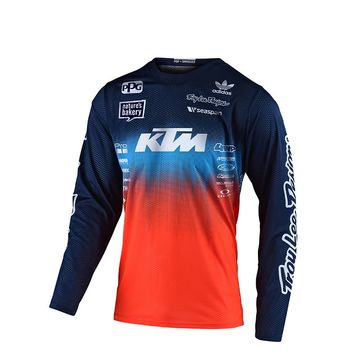 Maillot cross enfant Troy Lee Designs Spring 2020 GP Stain´d Team - Bleu Orange