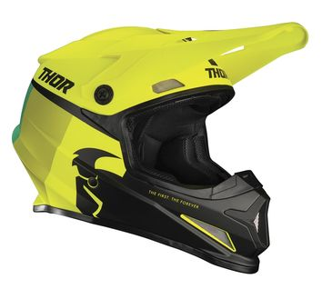 Casque cross Thor 2021 Sector Racer - Jaune Acid Lime