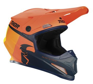 Casque cross Thor 2021 Sector Racer - Orange Bleu