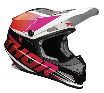 Casque cross Thor 2021 Sector Fader - Orange Rose magenta