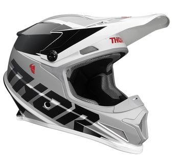 Casque cross Thor 2021 Sector Fader - Noir Blanc