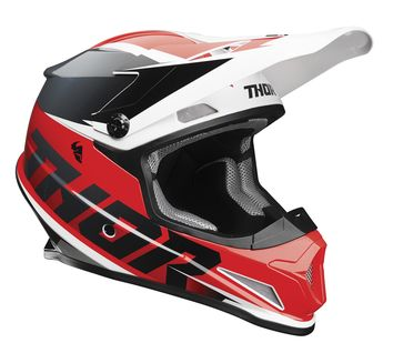 Casque cross Thor 2021 Sector Fader - Rouge Noir