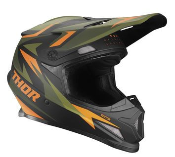 Casque cross Thor 2021 Sector Warship - Vert Orange